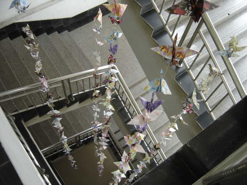 第四届文化节活动:万人许愿千纸鹤送祝福